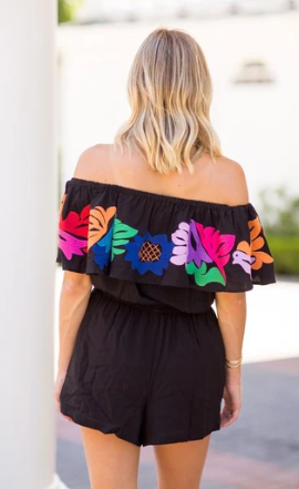 The Maya Embroidered Romper