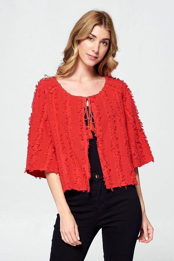 Red Cape Cardigan