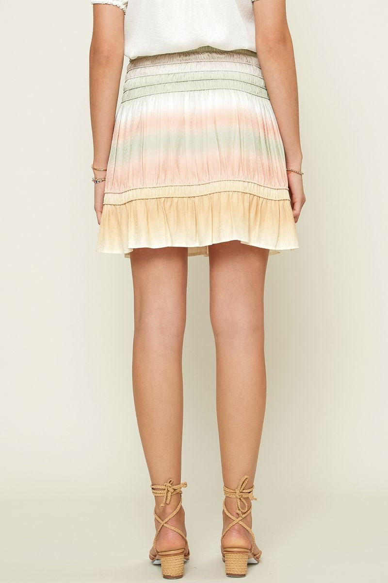 Ombre Print Mini Skirt