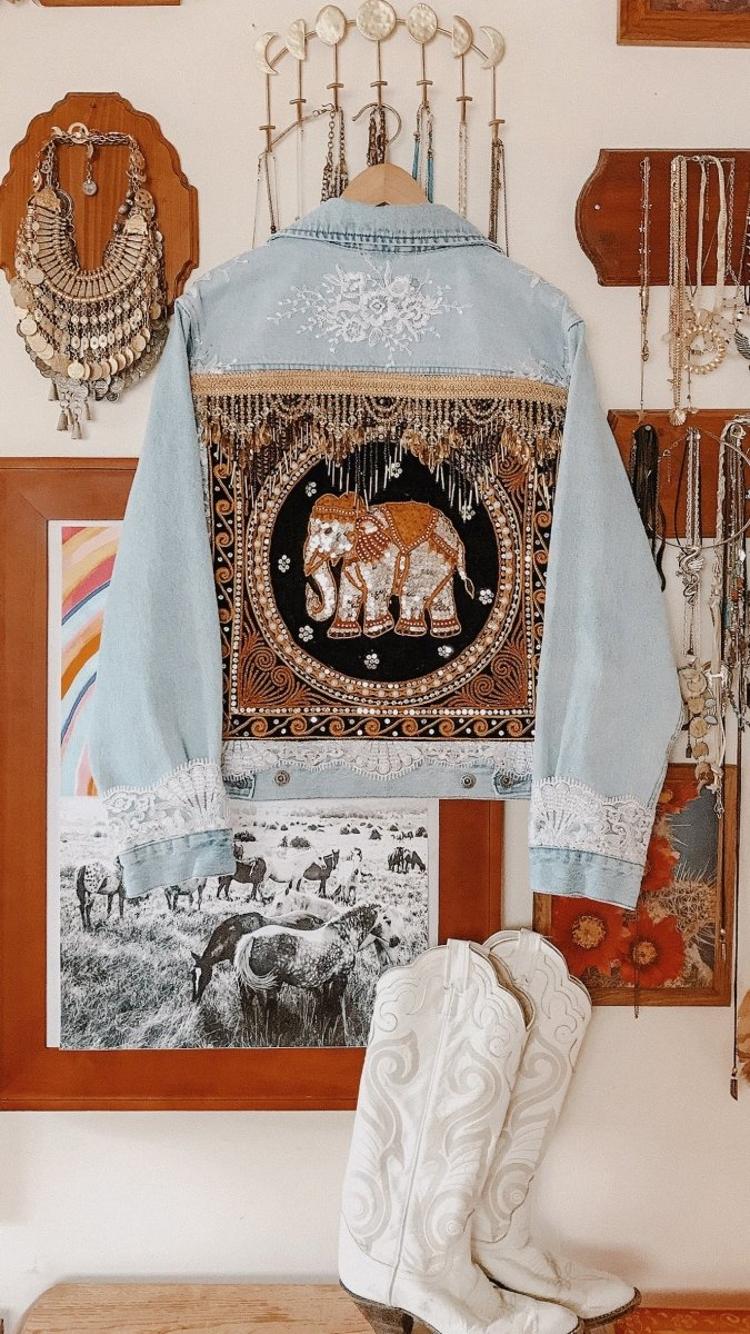 Custom Embellished Elephant Jacket - Made to Order - Wild & Free Jewelry