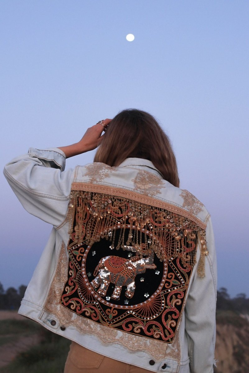 Embellished Elephant Jacket | Size S | Ready to Ship - Wild & Free Jewelry