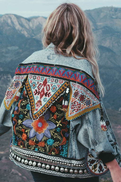 Embellished Thai Floral Denim Jacket | Made To Order - Wild & Free Jewelry
