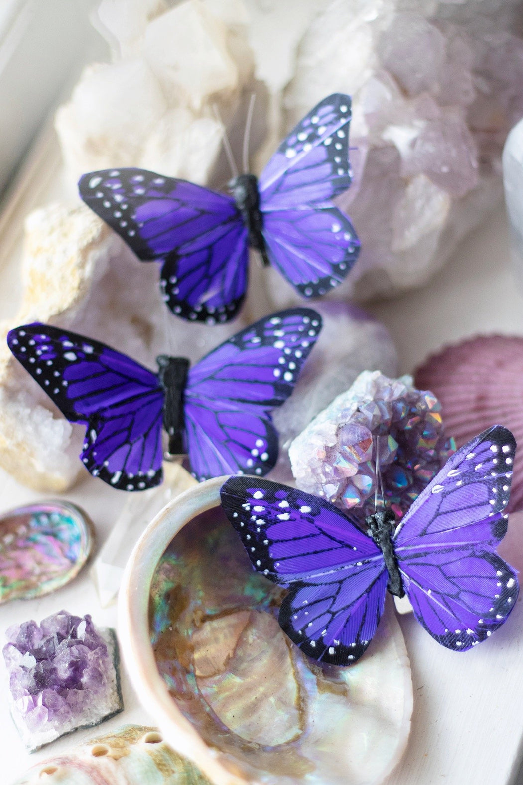 Indigo Fairy Butterfly Hair Clips - Wild & Free Jewelry