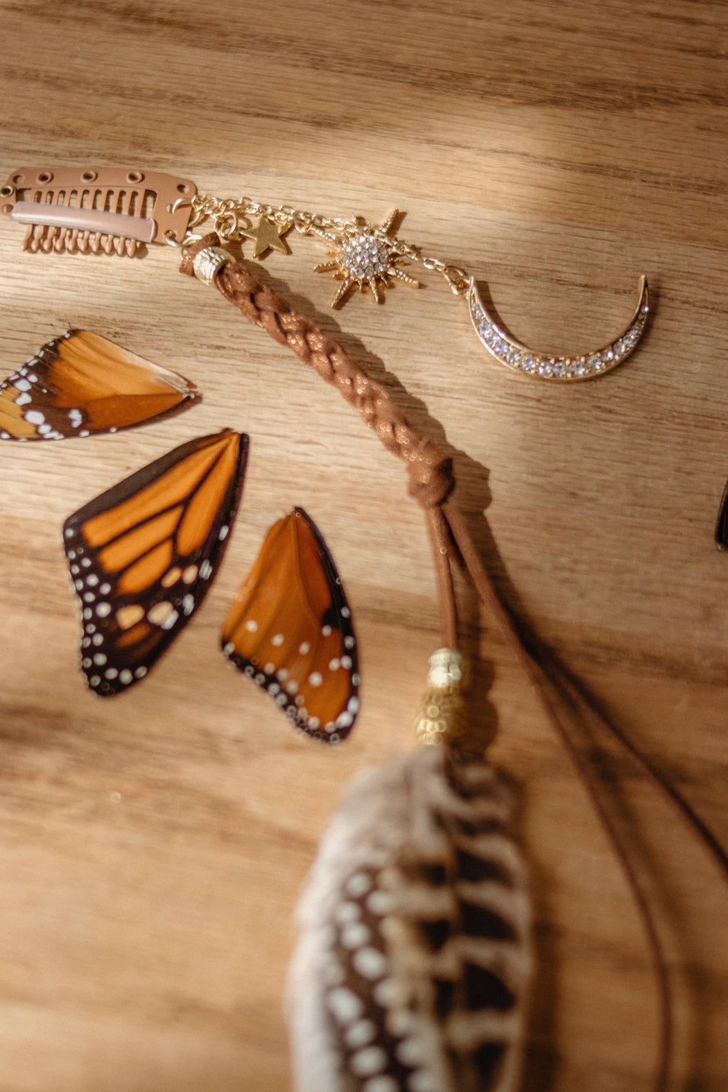 Light of the Moon Feather Hair Clip Set - Wild & Free Jewelry
