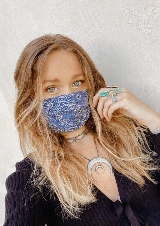 Unisex Bandana Fabric Face Mask with Filter Pocket | Pre-Order - Wild & Free Jewelry