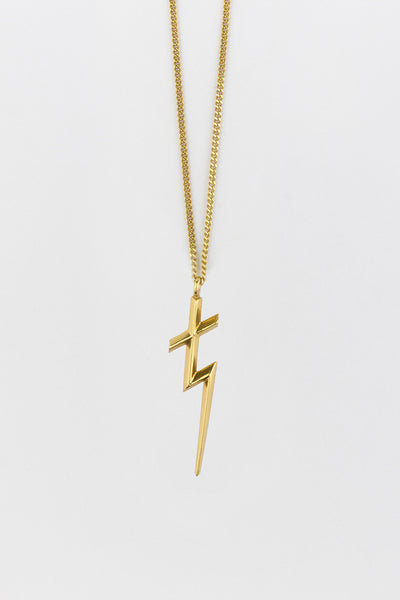 Thunder Cross Necklace Gold