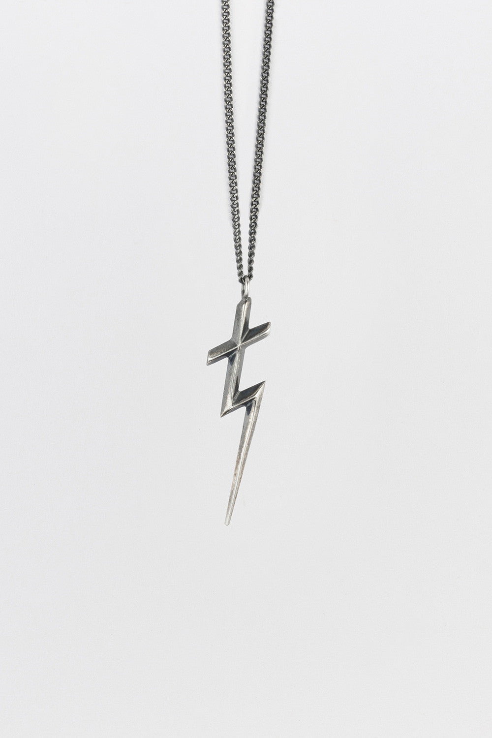 Thunder Cross Necklace Antique Sterling Silver