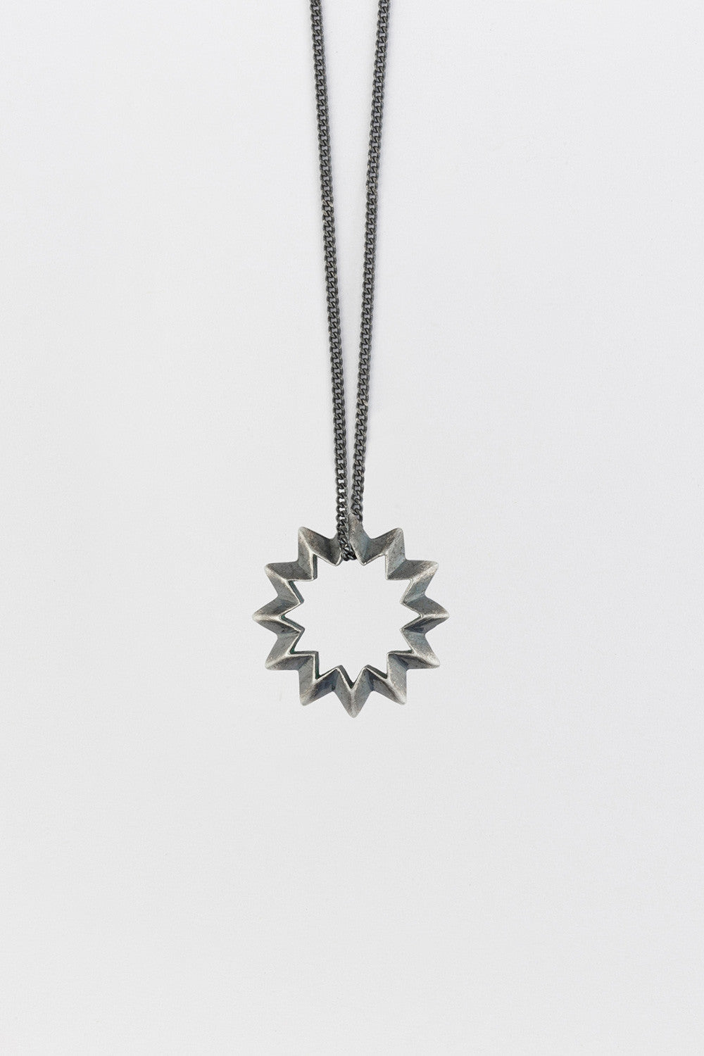 Shock (Star) Necklace Antique Silver