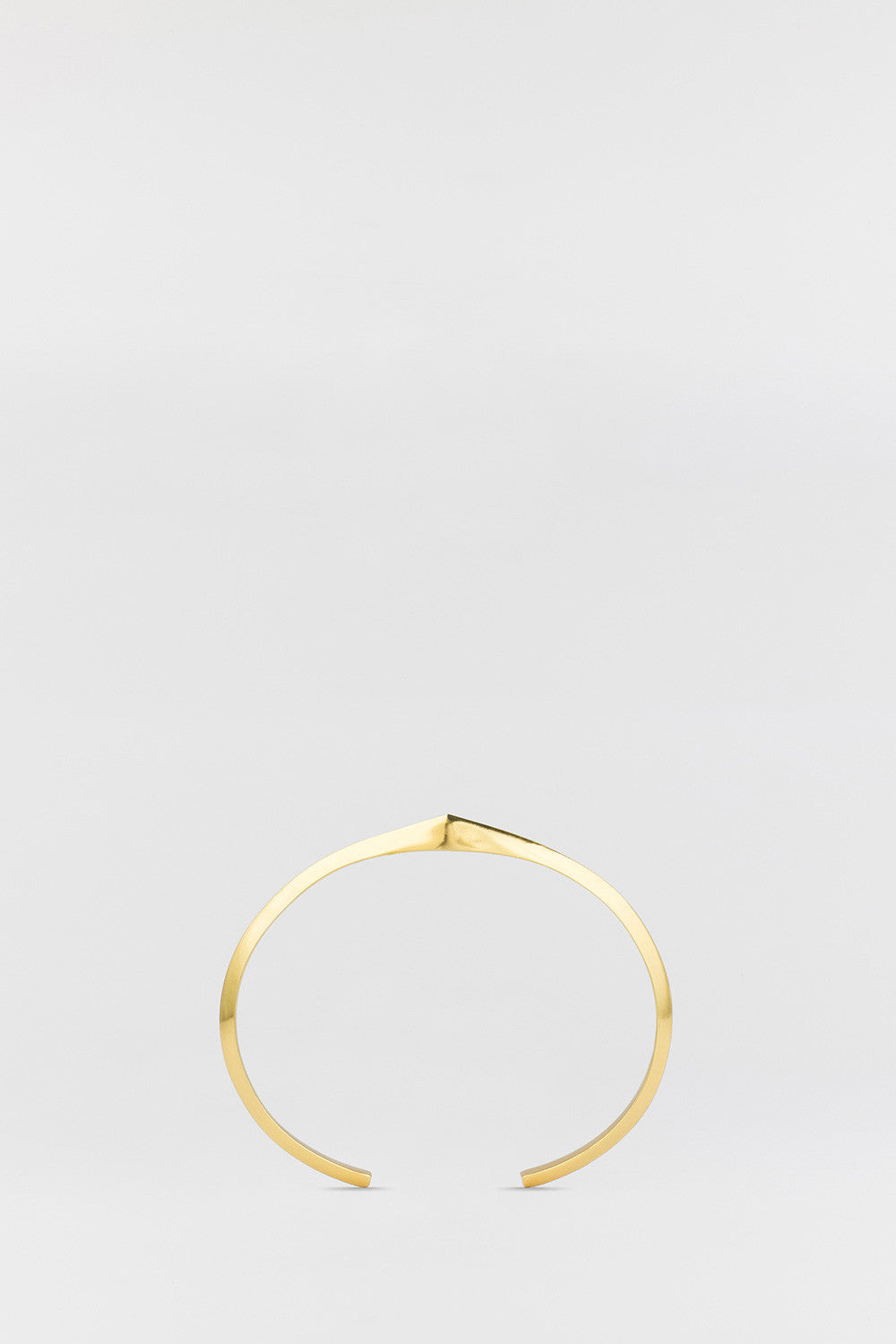 Spiked Bevel Cuff Gold
