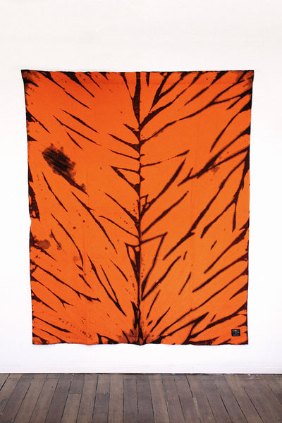 RE-UP BLANKET  CROUCHING TIGER (TANGERINE & CHOCOLATE)