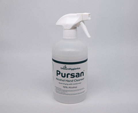 Pursan Alcohol Hand Cleanser - 500ml Trigger Spray (8 pack)