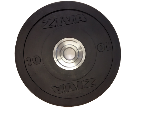 Ziva Rubber Solid Black Training Bumper Disc - 10 kg