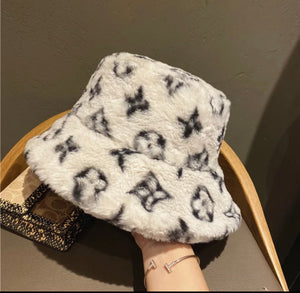 LV fuzzy bucket hat