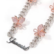 Load image into Gallery viewer, Customized name butterfly necklaces