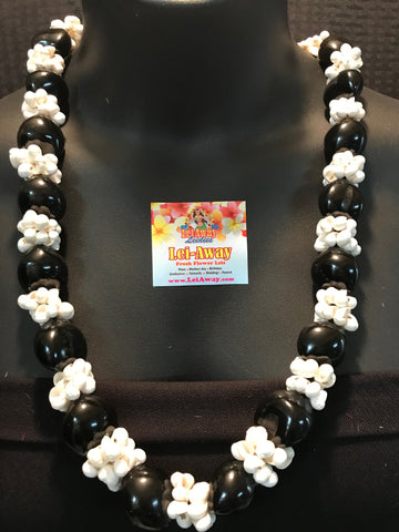 Kukui Nut with Mongo Shell Lei