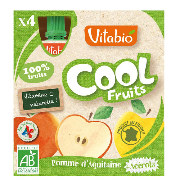 Pouch Cool Fruits Manzana 4x90gr Vitabio