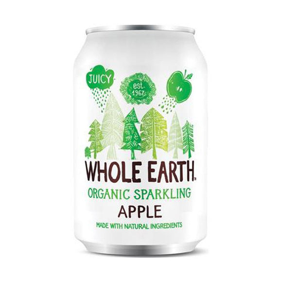 Refresco de Manzana sin azúcar Whole Earth