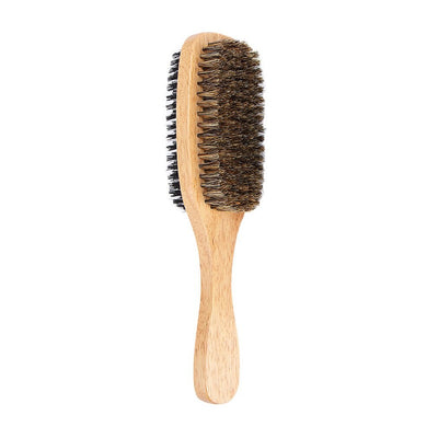 Double Side Men's Boar Hair Bristle Beard Brush Wood Handle Shaving Care Facial Hair Mustache Remover Beauty Tools