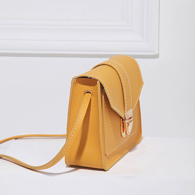 Small leather crossbody shoulder bag for women