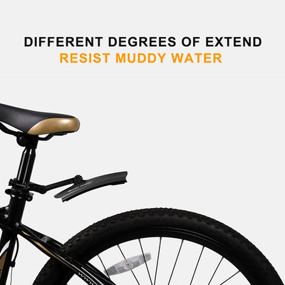WEST BIKING 1 pair Telescopic Foldble Bicycle Front Rear Fenders Mudguards with Taillight Bicycle Parts Cycling Equipment Hot