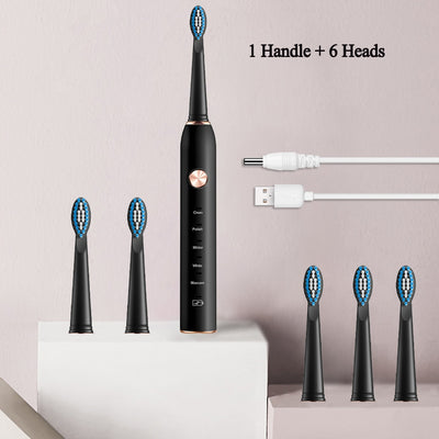 Sonic Electric Toothbrush USB Rechargeable 5 Modes Ultrasonic Automatic Brush Timer Waterproof Dental Brush Teeth Whitening
