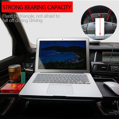 Car Table Retractable Folding Tray Desk for Laptop Phone Food Drink Mount Holder Interior Auto Back Seat Phone Support Accessory