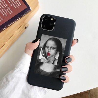 For iphone 11 Case Mona Lisa Art David Soft TPU Phone Case cover For Apple iPhone 12 5S SE 2020 6s 7 8 Plus XR XS 11Pro Max Case