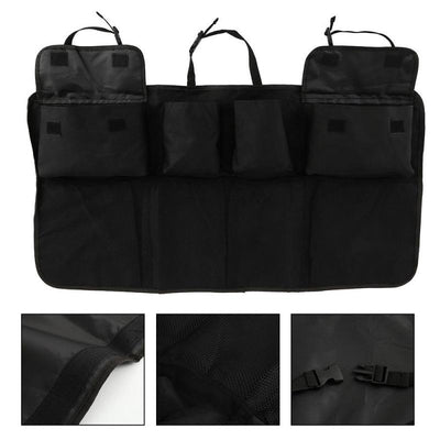 New Portable 8 Pocket Folding Car Boot Tidy Organiser Waterproof Oxford Cloth Car Seat Back Organiser Hanging Bag Car Interior