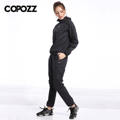 Jogging Sport Women Weight Loss Slim Fitness Running Sets Sauna Gym Training Tracksuit Hoodies+Pants 2 Pcs Sets Sweat Suit 4XL