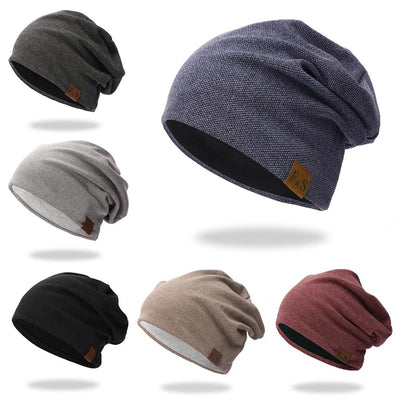 Beanies Cap Casual Lightweight Thermal Elastic Knitted Cotton Warm Hat Autumn Winter Sports Headwear