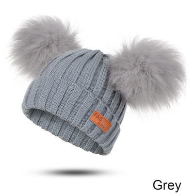 New arrival winter girls hat knit from fur