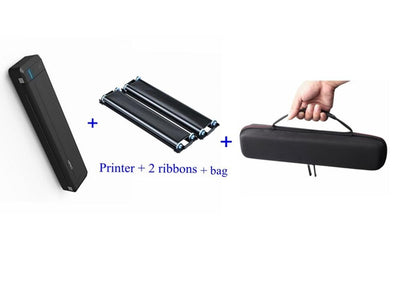 Portable printer thermal transfer Mini Bluetooth USB mobile printer A4 paper home business with built-in battery
