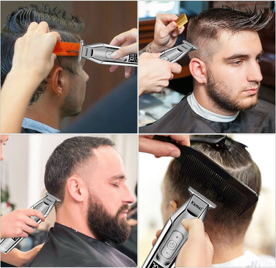 Kemei Professional Hair Clipper Beard Trimmer men's hair trimmer LCD digital display cordless haircut electric razor 5