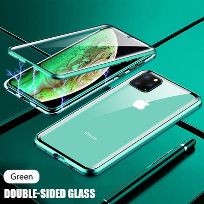 Full protection double magnetic glass case, glass cover