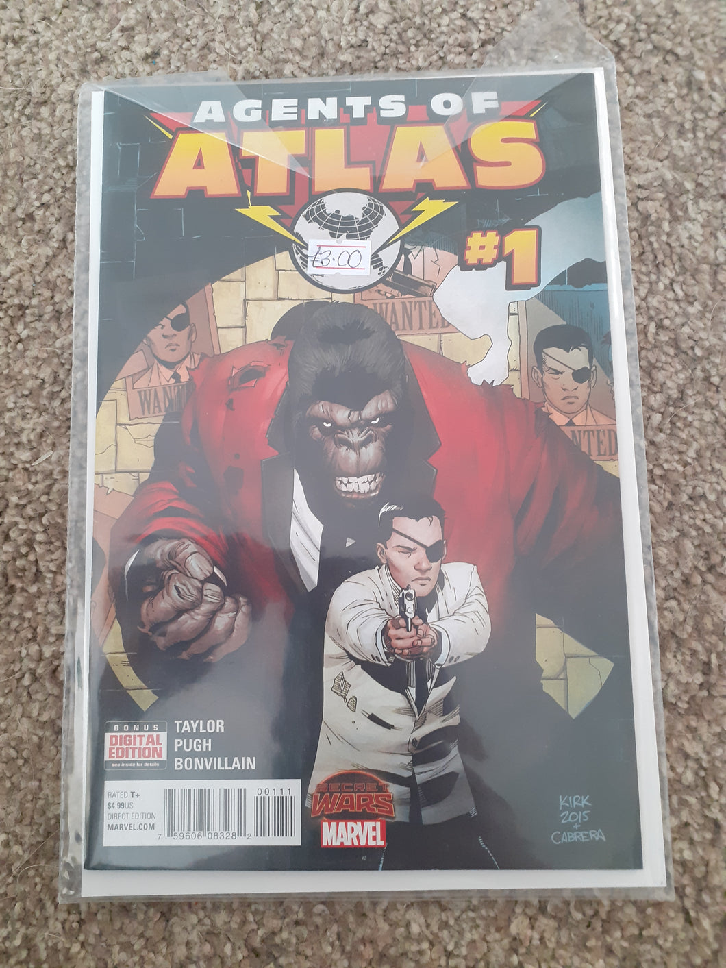 Agents of Atlas: Secret Wars Tie-In #1
