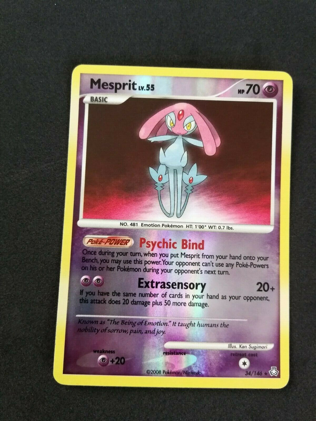 Mesprit Legends Awakened Reverse Holo #34