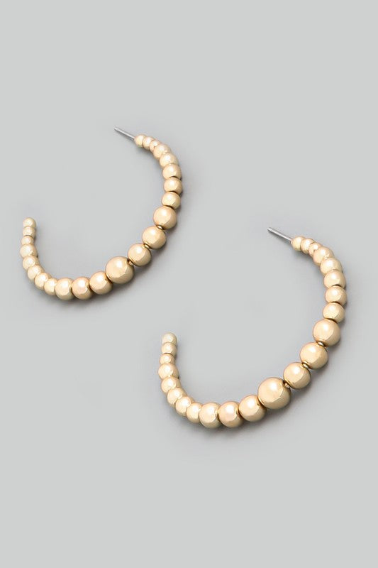 Gold Bead Hoops (Gold)