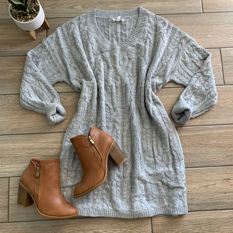 NAOMI Sweater Dress (Grey)
