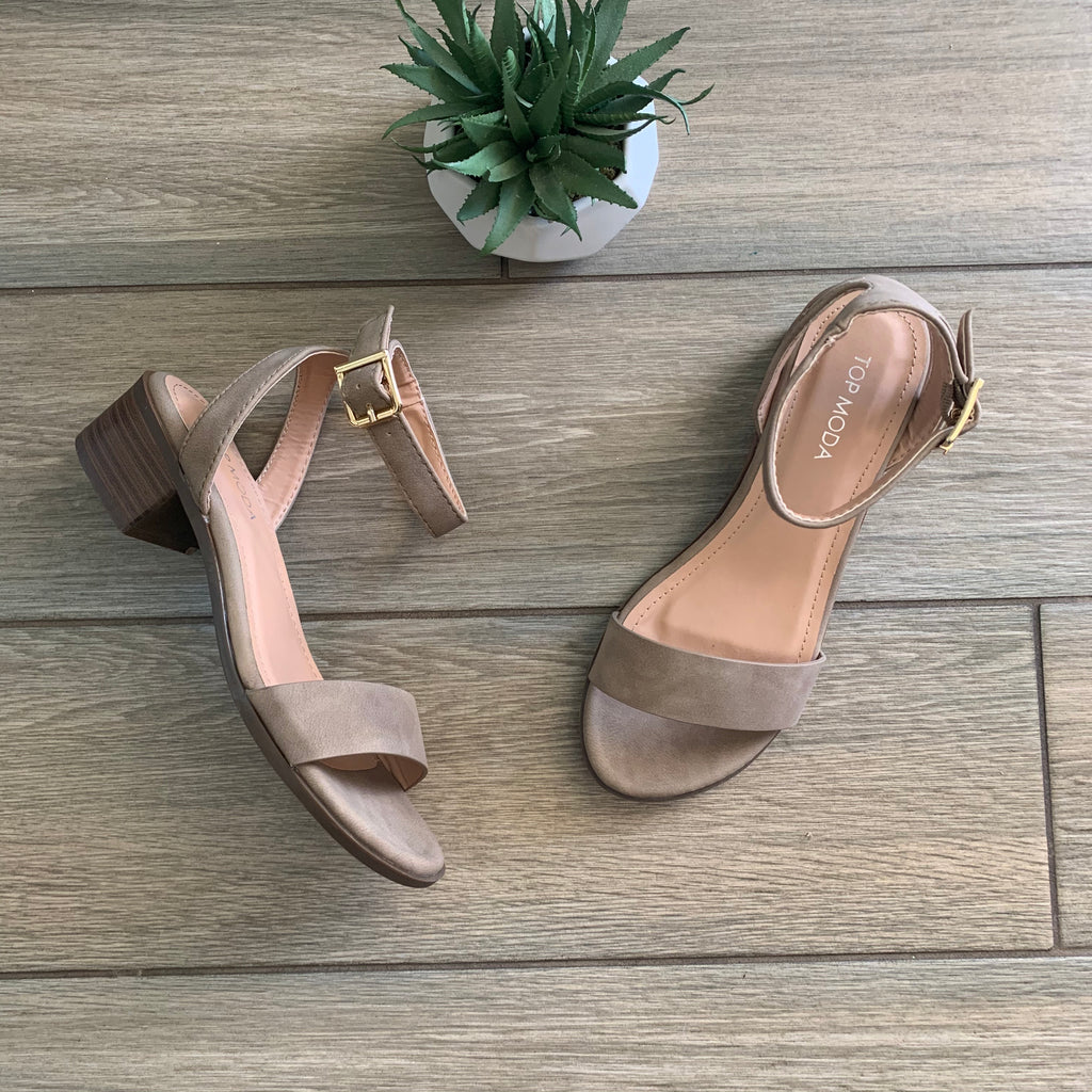 REGINA Taupe Sandal sizes 5.5 & 6.5