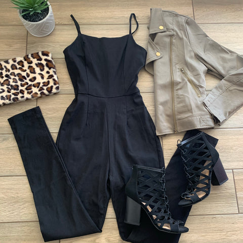 WYONA Jumpsuit (Nude & Black)