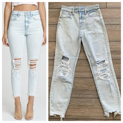 TOBI Super High Rise Denim (Light)