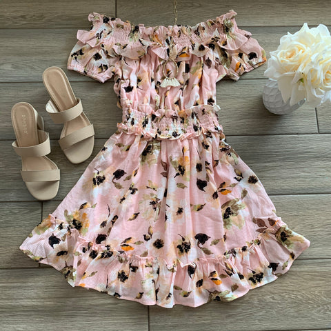 MARCIE Floral Dress (blush)