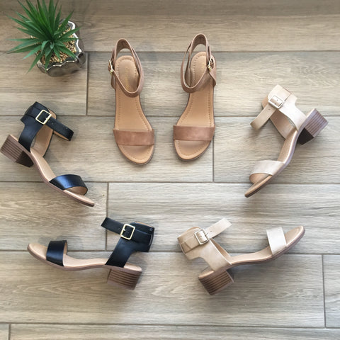 ROMA Heel Sandal (3 Colors) SIZE 9 & 10 ONLY