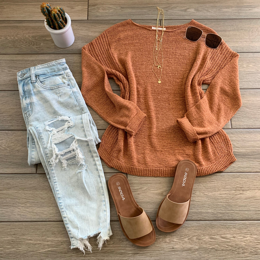 MALIBU Light Sweater (light Rust)