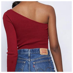 HERA One Shoulder Crop Top (Black, Taupe, Rust)