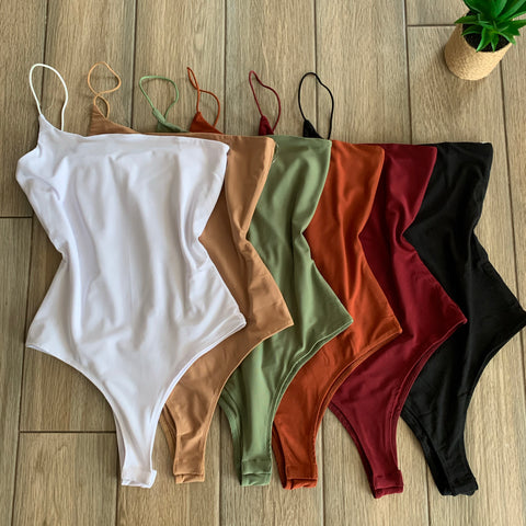 LIZZY One Strap Bodysuits (6 COLORS)