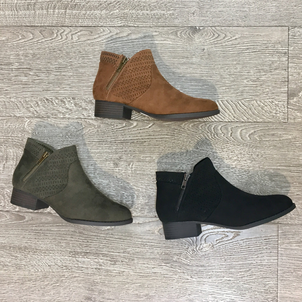 KIPSON Booties TAN & BLACK ONLY