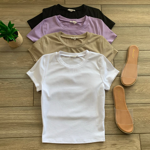 RILEY Ribbed Tops (4 Colors)