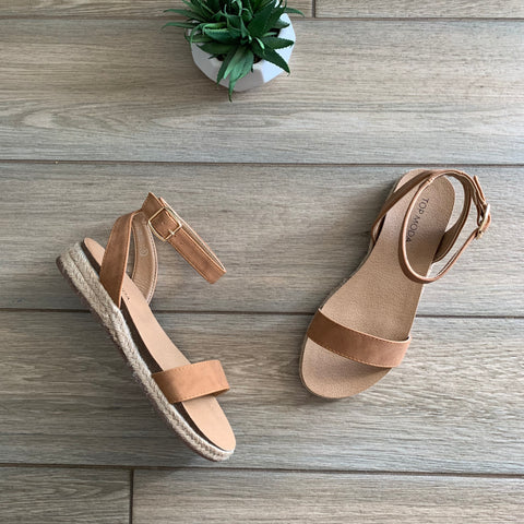 JOLIE Buckle Sandal (Tan) size 10 Only