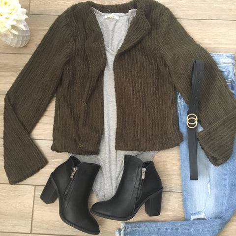 KATE Fluffy Jacket (Olive)